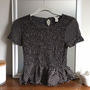 Fitted Forever 21 peplum top!  Size small!